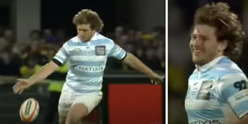 François Steyn's ridiculous 60-metre drop goal which left commentators in hysterics