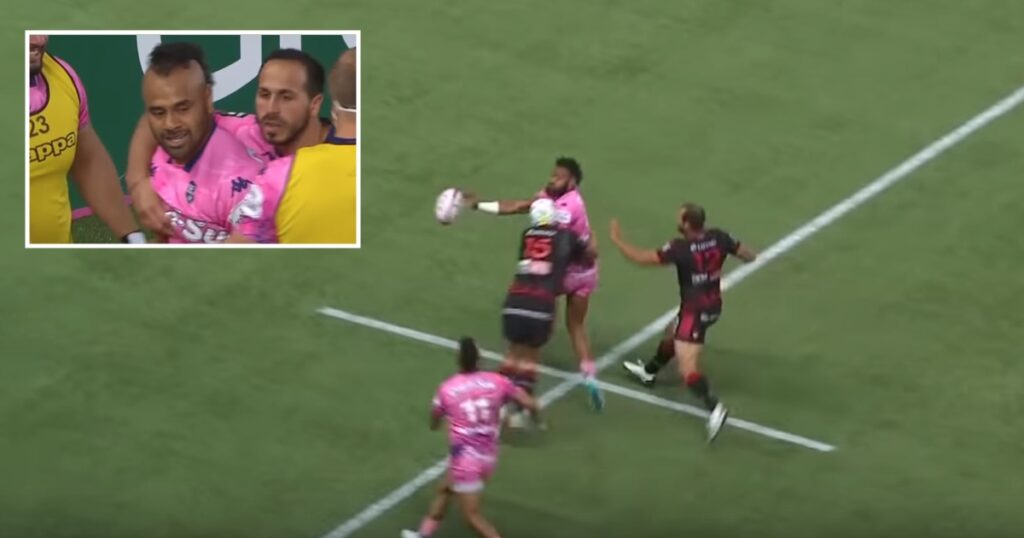 Veainu finishes superb try after octopus style offload from Waisea