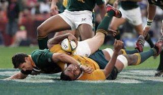 Springboks beat Wallabies - Fourie Du Preez try