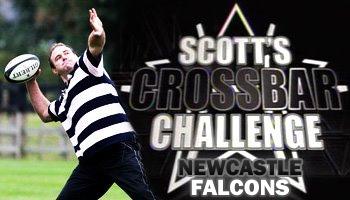 Scott Quinnell's crossbar challenge - Newcastle