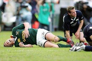 Jean De Villers vs Sean Lamont - Huge Collision