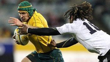 Matt Giteau's rough night against Fiji