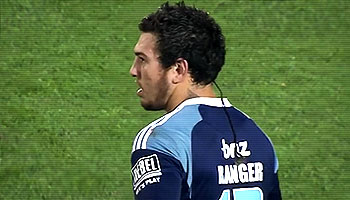 Rene Ranger huge hit on Christian Lealiifano