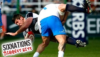 Biggest hits of the 2008 Six Nations