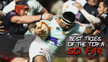 Best tries of the Top 14 so far