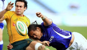 Another look at the Samoa vs Wallaby bruisefest - The Big Hits